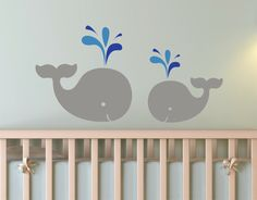 Children Wall Decal Mom & Baby Whales Vinyl decal by Zapoart, $34.00