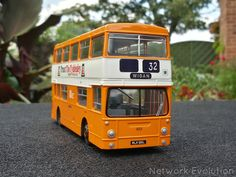 1973 Daimler Fleetline CRL6 with Park Royal body finished in Lancashire United colours, as operating for LUT between 1980-1984.  New as London Transport DMS615.  The model features Acrylic clearcoat with gunmetal chassis and wheelarches.  EFE 1:76 code 3, full airbrush respray from bare-metal.  networkevolution.co.uk