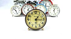 Vintage alarm clock. Retro mechanical clock. by VintageLittleGems