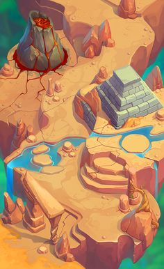 Game map on Behance