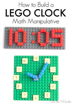 The LEGO Clock is a wonderful math manipulative for kids in school or…