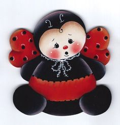 LADYBUG - This Clip-Art can be used as a stencil for wafer paper transfers, butter cream transfers, fondant cut outs, painting on to cakes etc and many uses for cupcakes and cookies too.