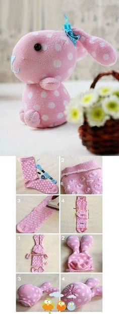 Cute Sock Bunny Craft Project