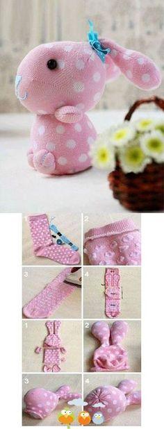 Cute Sock Bunny Craft Project