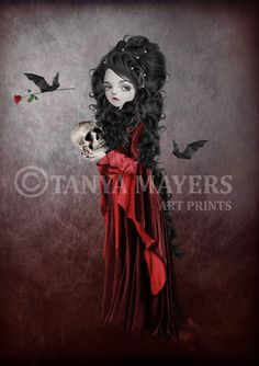 Vampire+Art+Print++Gothic++Vampire+Girl++by+HarrietsImaginations,+$17.00