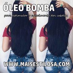 óleo-bomba-para-o-cabelo-crescer Curly Hair Styles, Natural Hair Styles, Grow Hair, Natural Treatments, Diy Hairstyles, Afro, My Hair, Curls, Hair Care