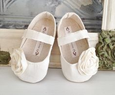 Baby Girl Shoes Toddler Girl Shoes Infant Shoes Soft Soled Shoes Wedding Shoes Flower Girl Shoes Spring Shoes Summer Shoes Ivory Cream Shoes by BitsyBlossom on Etsy https://www.etsy.com/listing/95816750/baby-girl-shoes-toddler-girl-shoes