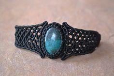 MUNAY/ Macrame Bracelet/ Turquoise Stone/ Turquoise Bracelet/ Micromacrame/ Healing Stone/ Natural JewelryJa