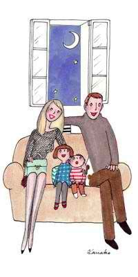 Aline ♥ Soirée en famille!  Family time!♥