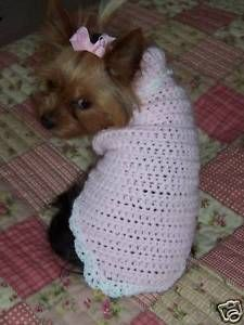 Small Dog Sweater Crochet Pattern Instructions