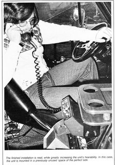 """car phone 1970s -- Used one of these as a police beat reporter in a company car at The Cleveland Press. Recall asking the """"mobile operator"""" to place the calls. Hot stuff back in the day of phone booths. Also had an office phone we """"dialed"""" by inserting plastic punch cards each coded with a frequently called phone number."""