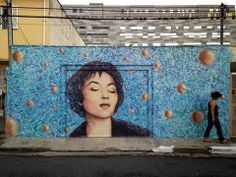 Retrato de Clarice Lispector - street art