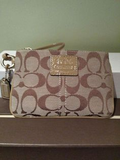 Coach Wristlet Light Brown for SALE! ENds today! Please check out my other items!