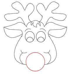 Rudolph Reindeer Face Craft for Coloring | Responses on Rudolph picture for Christmas craft""