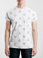 Grey Diamond Print T-Shirt