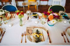 wes anderson inspired plate settings
