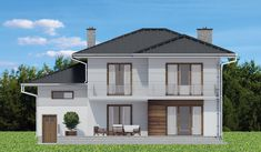 Elewacja DTD PANAY CE House Construction Plan, Model House Plan, Cabin House Plans, Cabin Homes, Home Fashion, Gazebo, Shed, Villa, Outdoor Structures