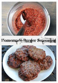 Burger Seasoning- Amee's Savory Dish - Simple Homemade Burger Seasoning for the next cookout! -Homemade Burger Seasoning- Amee's Savory Dish - Simple Homemade Burger Seasoning for the next cookout! - Make a copycat homemade Big Mac Sauce from McD. Best Hamburger Recipes, Healthy Burger Recipes, Best Burger Recipe, Beef Recipes, Cooking Recipes, Hamburger Seasoning Recipes, Simple Burger Recipe, Garlic Burger Recipe, Dry Rubs