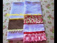 Aprenda à Fazer uma toalhinha com barra de tecido - YouTube