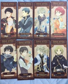 Akagami no Shirayuki-hime - Snow White with the Red Hair - Bookmarks - I want them all!
