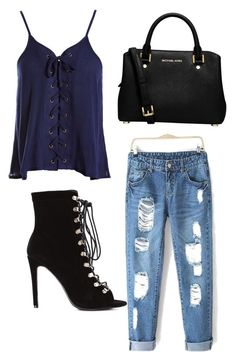 """""""Untitled #19"""" by anda-costache ❤ liked on Polyvore featuring Sans Souci and MICHAEL Michael Kors"""