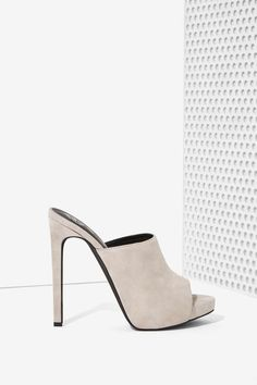Jeffrey Campbell Robert's Suede Mule - Gray | Shop Shoes at Nasty Gal!