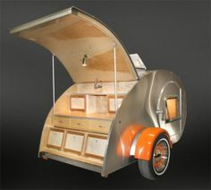 Custom Teardrop Trailers by Vacations In A Can ~ offering Teardrop & Vintage Trailers ~ appearing on the cover of Sunset Magazine May 2012 issue ~ prices start at $7250
