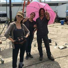 Christian Serratos, Alanna Masterson & Norman Reedus, The Walking Dead (2010-)