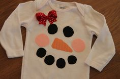 sew, craft, bow obsesh, christmas shirts, snowman onesi