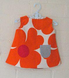 Maija Ukko flower child retro dress from Arty Baby $49. 100% one-off, handmade piece made from recycled fabric. www.artybaby.com.au