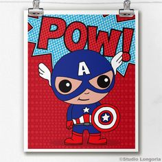 Captain America Limited Edition Print by StudioLongoria on Etsy, $10.00