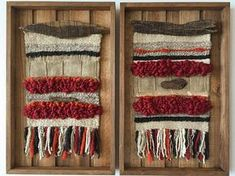Made in Chile with natural wool, wood and driftwood from Lago Puyehue. Price includes the three of them. It takes me 3 weeks to do it and three more weeks the delivery. Weaving Wall Hanging, Weaving Art, Tapestry Weaving, Loom Weaving, Wall Hangings, Weaving Techniques, Knitting Yarn, Embroidery Stitches, Textiles