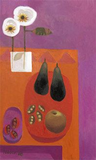 Two Pears 2008 by British Contemporary Artist Mary Fedden Still Life Artists, Paintings I Love, Naive Art, Painting Inspiration, Life Inspiration, Painting & Drawing, Flower Art, Illustration Art, Prints