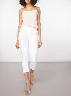 Womens **Tall White 'Eden' Crop Jeggings- White