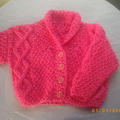 The Aine baby and toddler cardigan, PDF knitting pattern on Ravelry