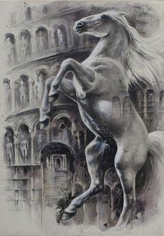"""""""Rebelion in Pisa"""" drawing 100X70  2013"""