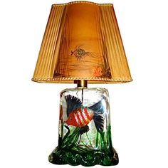 1stdibs | Alfredo Barbini Cenedese Murano Glass Aquarium Fish Lamp