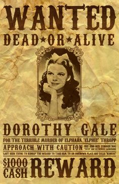 dorthy wanted poster