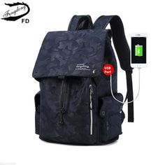 31.34$  Buy here - FengDong male usb charge backpack men travel bags waterproof blue camouflage backpack for boy school bags for teenagers rucksack   #aliexpresschina