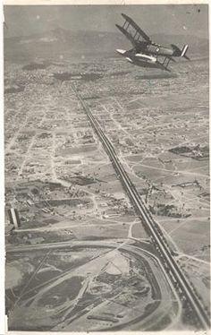 Aerial view of Sygrou avenue, Athens