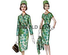 Sewing Pattern for 60s Cocktail Dress & Jacket, Butterick 2573 #60sFashion #JackieKennedySuit #TheOldLeaf #Dressmaking #HalfSizeSewing #PlusSizeFashion #1960sDresses