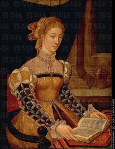 Unknown French artist (16th century), Portrait of a Lady Reading.