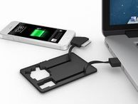 Fund this: Jumper cables for your smartphone The Jumper Card fits in your wallet, yet packs a battery and charge cable compatible with all modern phones.
