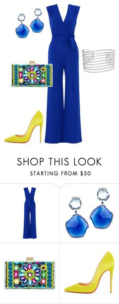 """""""First Date"""" by arta13 ❤ liked on Polyvore featuring YOANA BARASCHI, Edie Parker, Christian Louboutin and Allurez"""