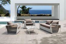 Dubai sofá mobiliário de exterior cadeira acácia mobiliário de jardim