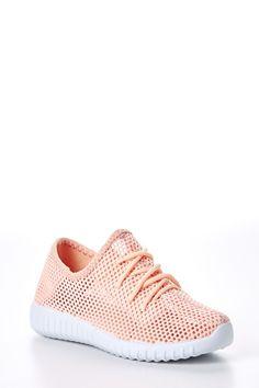 Kicking It Pink Knit Sneakers at reddressboutique.com