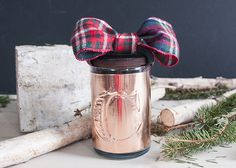 Handmade Holiday: Monogram Copper Candle | House of Earnest