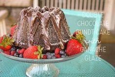 Double Chocolate Bundt Cake w/ Ganache ~ via @emmykastner ~ #chocolateater #Pinterest