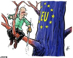 Europe grows on us… This week's cartoon for our project (with the European Cultural Foundation), by Dutch cartoonist Maarten Wolterink. Brexit Remain, B Words, Political Cartoons, Fine Art, This Or That Questions, Comics, Drawings, Fictional Characters, Reality Bites