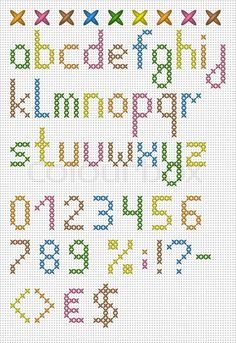 Colorful Cross Stitch Lowercase English Alphabet Stock Vector (royalty-free) 148808585 - DIY and Crafts Cross Stitch Letter Patterns, Cross Stitch Numbers, Cross Stitch Letters, Cross Stitch Bookmarks, Cross Stitch Art, Simple Cross Stitch, Cross Stitch Borders, Cross Stitch Designs, Cross Stitching